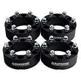 "Supreme Suspensions - (4pc) 1999-2016 Chevy Silverado 1500 2"" Wheel Spacers 6x5.5"" (6x139.7mm) with M14x1.5 Studs [Black]"