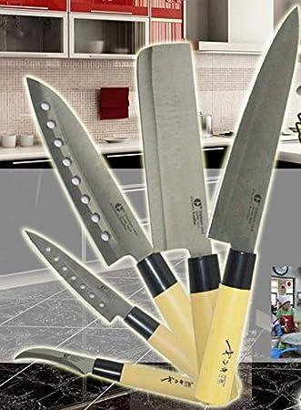 Goldsun Stainless Steel Acier Inox Rostfrei 5 Piece Sashimi Asain Knives
