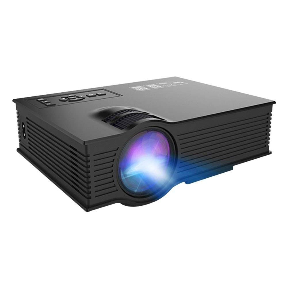 Daqin Portable LED Projector I HD 1080p Full HD Video Projector for Home Theater (Color : Black)