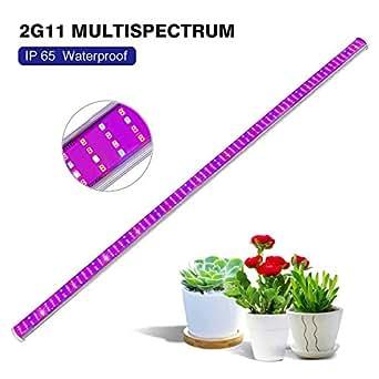 LED Cultivo Tira Roleadro Luz Cultivo 150W 2G11 Grow LED IP65 Espectro Completo con IR Rojo Azul 2700K 6500K Luz para Interior/Invernadero/Hydroponic Planta Crecimiento