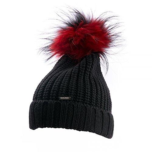 Woolrich Bicol Pon Pon Serenity Womens Hat Black