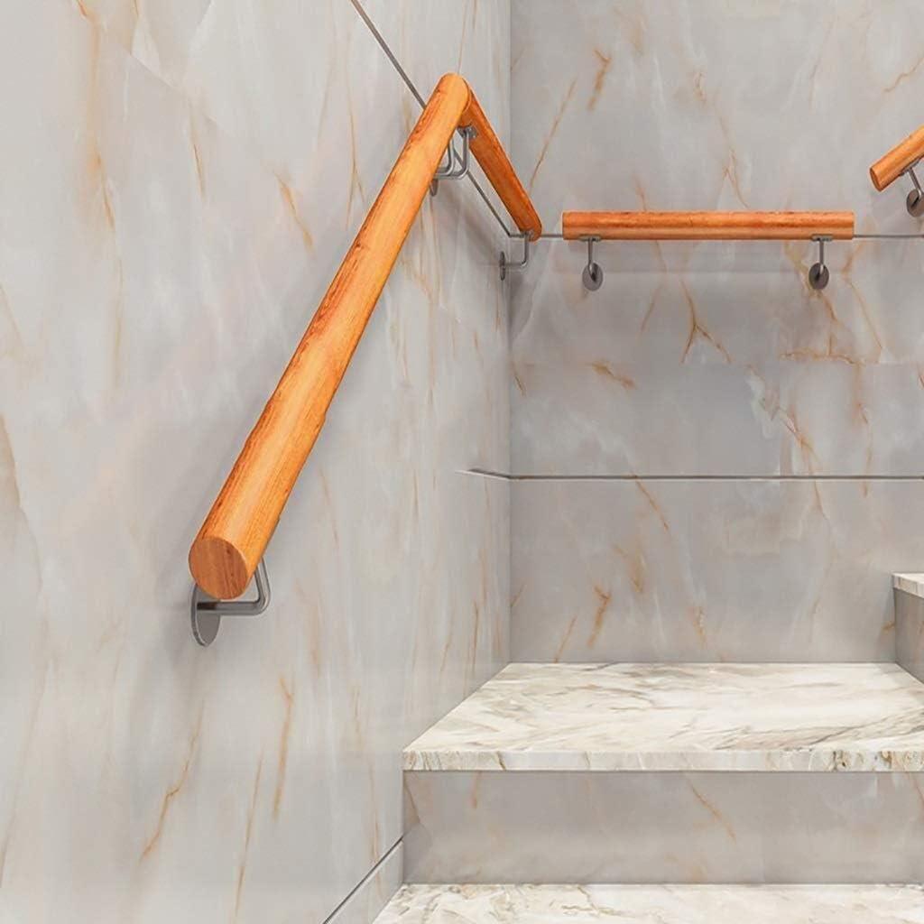 DJSMfs - Pasamanos para escaleras, antideslizante, madera maciza, para casa, contra la pared, para interiores, altillo, villas de ancianos, barandillas, pasillos de apoyo, 240 cm: Amazon.es: Hogar