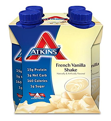 Atkins Ready To Drink Shake, (French Vanilla,, 11 Ounce, 8 Count)