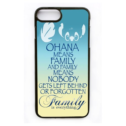 Coque,Apple Coque iphone 7 Plus (5.5 pouce) Case Coque, Generic Family Is Everything Quote Ohan Cover Case Cover for Coque iphone 7 Plus (5.5 pouce) Noir Hard Plastic Phone Case Cover