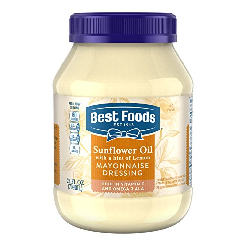 Best Foods Mayonnaise Dressing, Sunflower Oil with a hint of Lemon, 24 oz