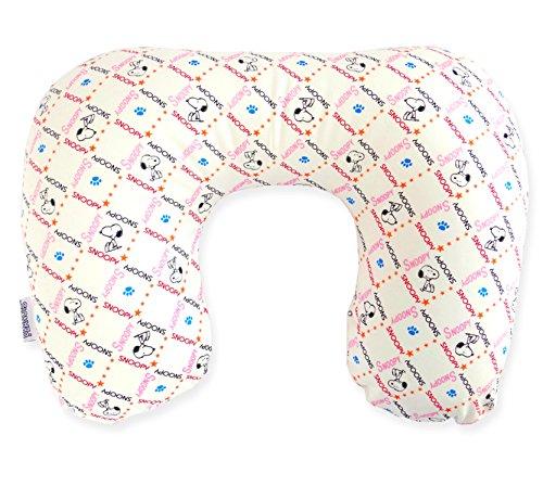 스 누 피 트래블 비즈 베개 스퀘어 패턴 아이 보 리 / Snoopy Travel Neck Pillow square pattern Ivory