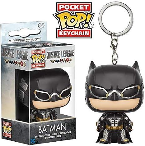 DC DC-13794 Llavero de Vinilo Batman, colección Justice League (Funko 13794)