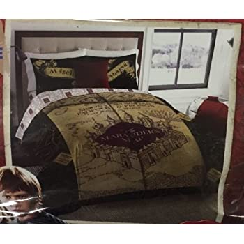 Marauders Map King Size Bedding