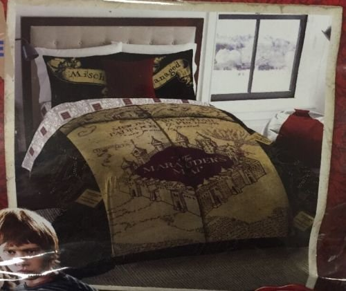 Harry Potter Marauders Map Full/Queen Comforter Bed Spread by Harry Potter