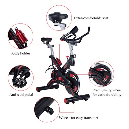 Pinty Adjustable Stationary Exercise Bike Indoor Cycling