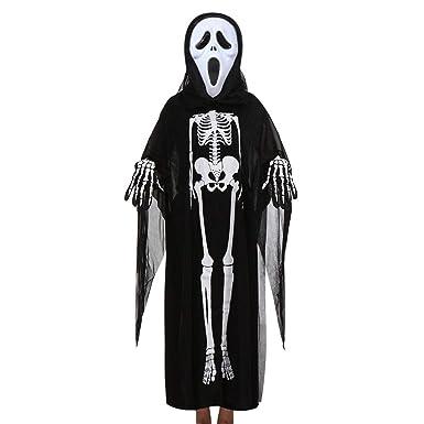 Luckhome - Disfraz de Esqueleto de Esqueleto de Manga Larga para ...