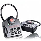 Tarriss TSA Lock with SearchAlert (2 Pack) (Black)