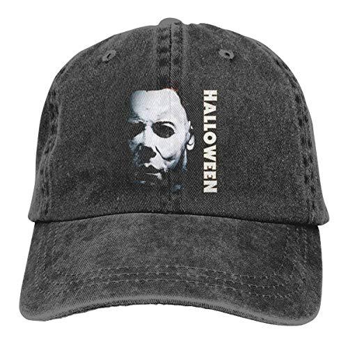 Capa Mr.Luo Halloween Michael Myers Logo Men's Women's Hat Black -