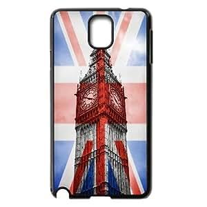 Jumphigh Big Ben, London, England British Flag,UK Flag Samsung Galaxy Note 3 Cases, [Black]