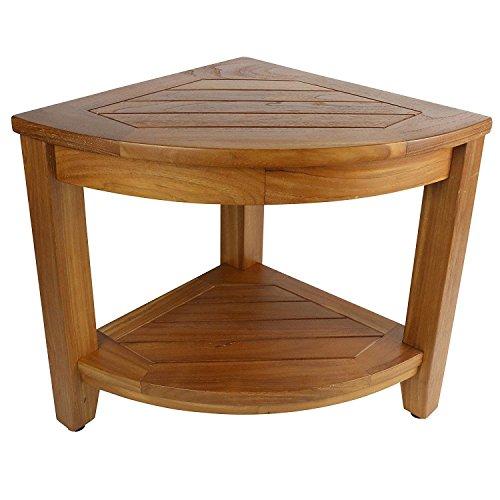 Asher Amada Teak Shower Table: Jakarta Corner Spa Table