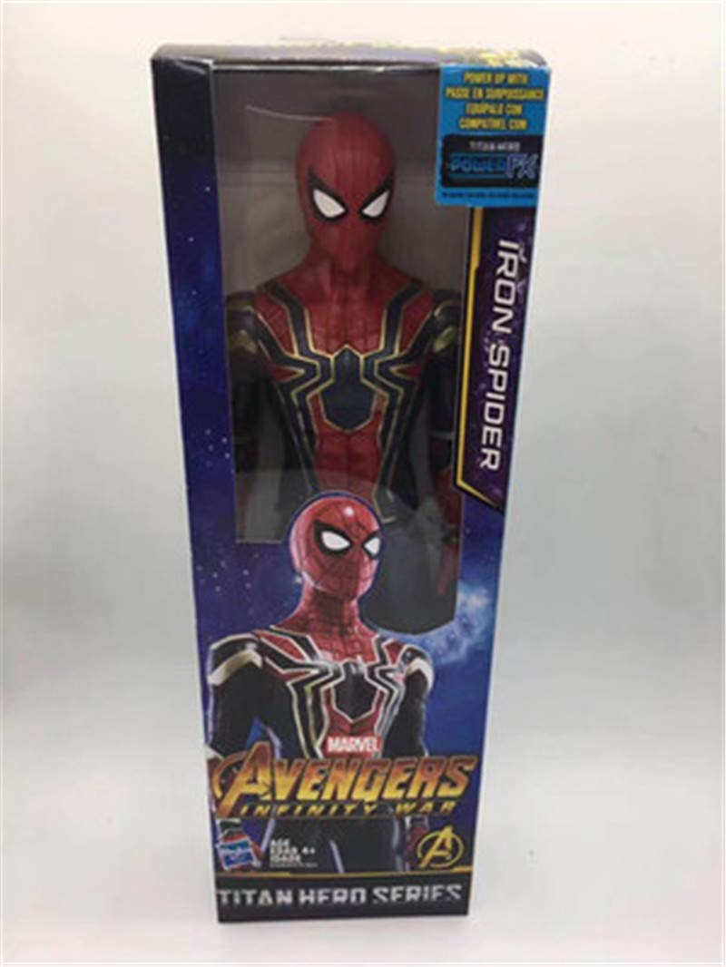 Spiderman with box -Type1988 New Marvel Titan Hero Avengers Infinity War Thanos Iron Spider Captain America Black Panther Hulk Hulkbuster Action Figure Toy - Marvel Legends Captain Marvel