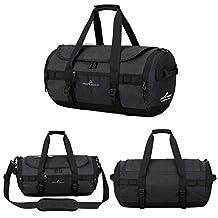 Men Travel Backpack,Businda Gym Soccer Training Handbag Duffle Bag with Adjustable Strap Storage Tote for Men Women,Black