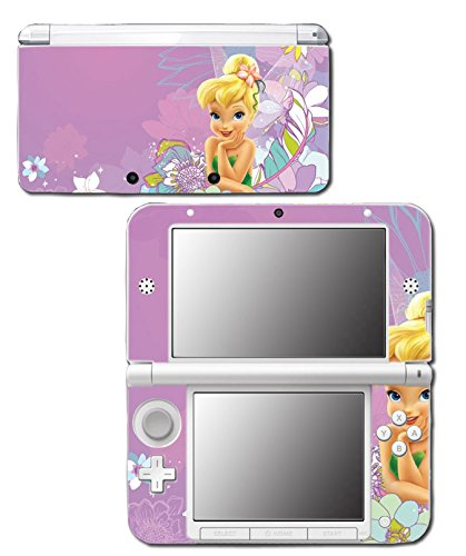 Tinkerbell Princess Friends Fairy Queen Girl Tinker Bell Video Game Vinyl Decal Skin Sticker Cover for Original Nintendo 3DS XL System