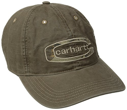 (Carhartt Men's Cedarville Logo Cap,Canyon Brown,One Size )