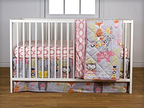 Lolli Living Enchanted Garden 4pc Crib Bedding Set [並行輸入品]   B07GGYP2V4