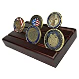 atsknsk Challenge Coin Display Holder Stand Wooden