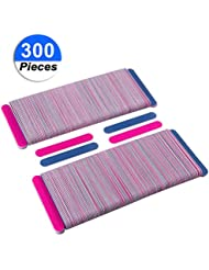 300 Pack Disposable Nail Files Double Sided Emery Boards...