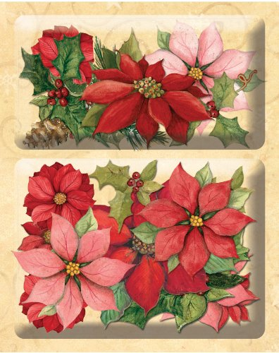 K&Company Susan Winget Glad Tidings Poinsettia and Holly Layered Accents