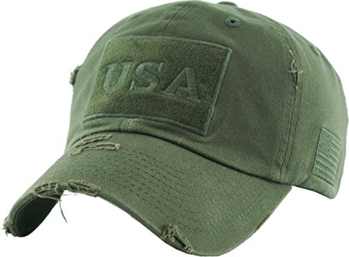 KBVT-210 OLV Tactical Operator with USA Flag Patch US Army Military Baseball Cap Adjustable