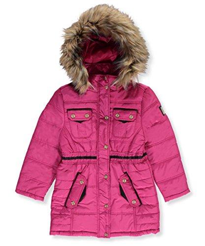Rocawear Girls Jacket (Rocawear Big Girls' Insulated Parka - Pink, 10-12)