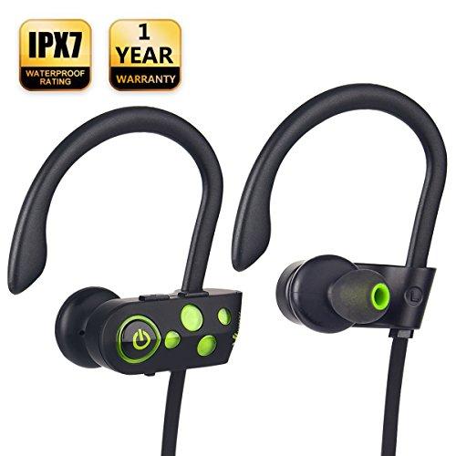 [NEWEST 2018] Bluetooth Headphones w/12-14 Hours Battery - Best Wireless Sport Earphones w/Mic - Waterproof HD Music In-Ear Earbuds for Gym Running Workout Noise Cancelling Headsets for Men, Women by JONYJ