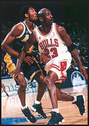 37b97b5773cf Amazon.com   Chicago Bulls - Michael Jordan   Lakers - Kobe Bryant  -Poster