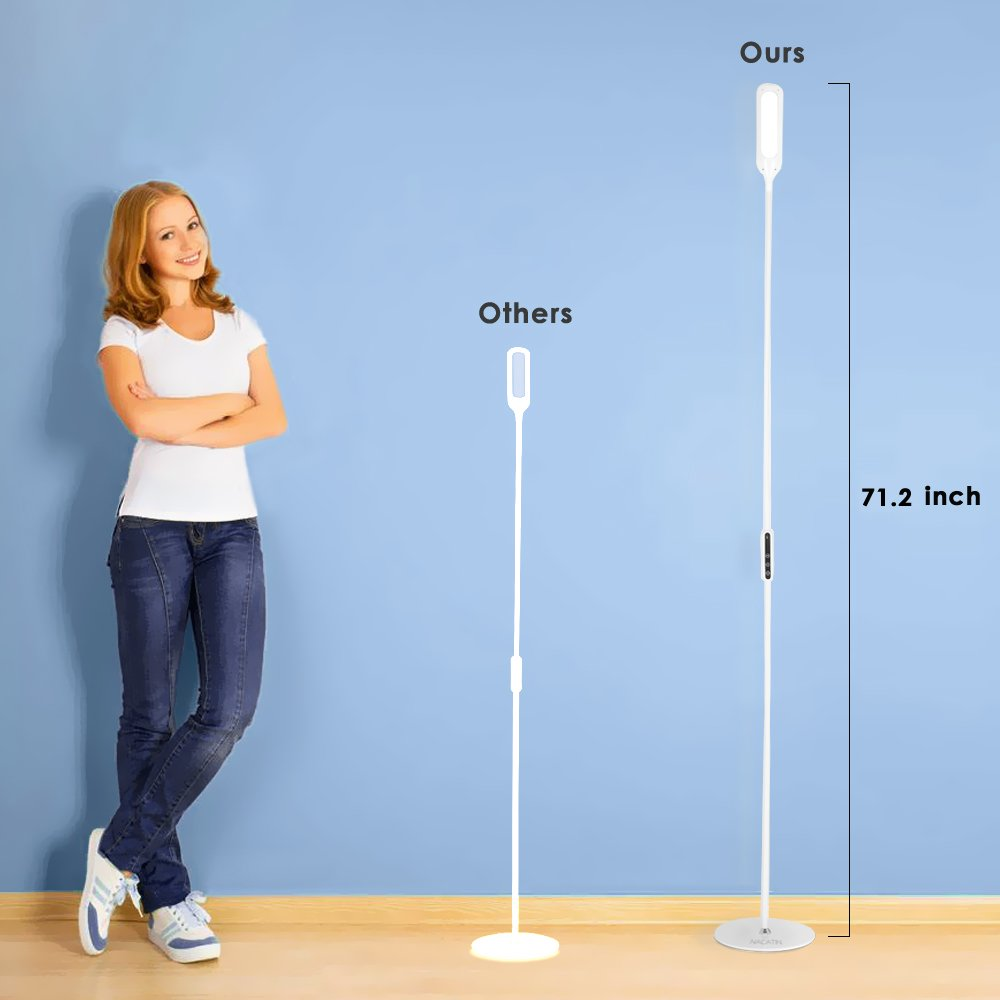LED Floor Lamp, NACATIN Reading Lamps with 25 Styles of Lighting, Time Function, Touch & Remote Control Lamps LED for Living Room, Bedroom, Office, 9W, White by NACATIN (Image #6)