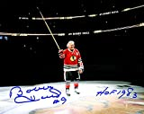 Bobby Hull Signed Blackhawks On Center Ice 8 x 10 Photograph With HOF 1983 - Signed Hockey Collectibles