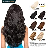 "Best Human Hair Extensions - GEELOOK Clip in Hair Extensions 16"" Double Weft Review"