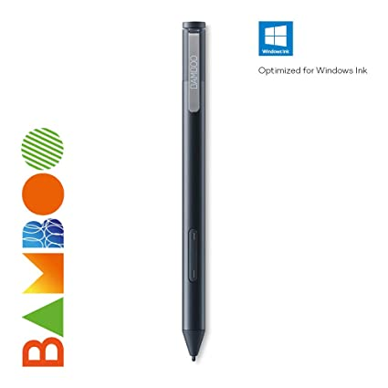 Wacom Bamboo Ink - Stylet intelligent compatible avec les tablettes à  stylet sous Windows 10 - Optimisé pour Windows Ink - Noir - 2018 - Version  mise