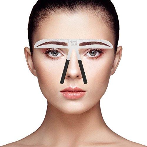 Eyebrow Stencil Ruler for Eyebrows Enhancer Grooming Stencil Shaper Ruler (7) (Best Eyebrow Stencils Reviews)