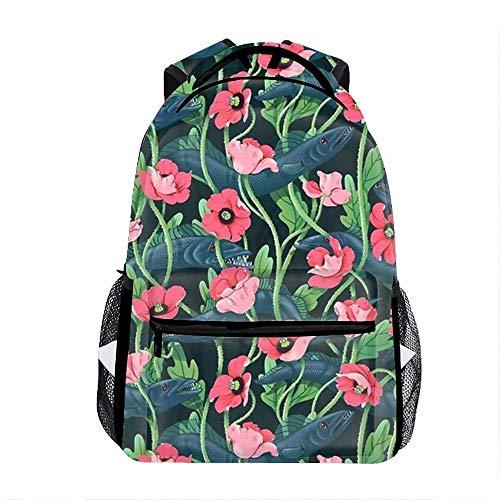 Lightweight Barracuda Midnight School Backpack Waterproof Book Bag for Girls Teens Kids