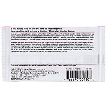 LA Fresh Travel Lite Eye Make Up Remover Pads 100 Count. Travel Size Makeup Remover and Bonus Velvet Liquid Eyeliner Pen Included.