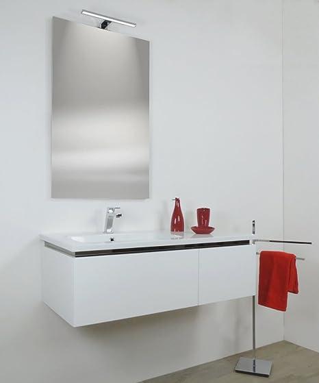 Lavabo Resina Blanco.Arredobagnoecucine Mueble De Bano Suspendido Moderno Avril