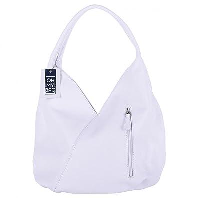 OH MY BAG Sac à main cuir Mandalay blanc SOLDES  Amazon.fr ... cf83c6c26b02
