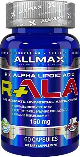 ALLMAX Nutrition R+ALA, R-Alpha Lipoic Acid, 60 Capsules