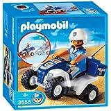Playmobil - 3655 - Jeu de construction - Policier / quad