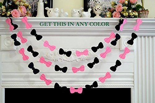 bow tie garland babybridal shower decor paper garland photo prop birthday