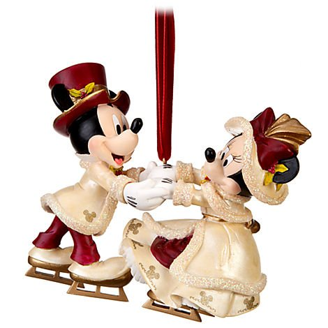 Disney Victorian Minnie and Mickey Mouse Christmas Ornament - Disney Theme Parks Exclusive & Limited Availability Disney Theme Park Christmas Ornaments