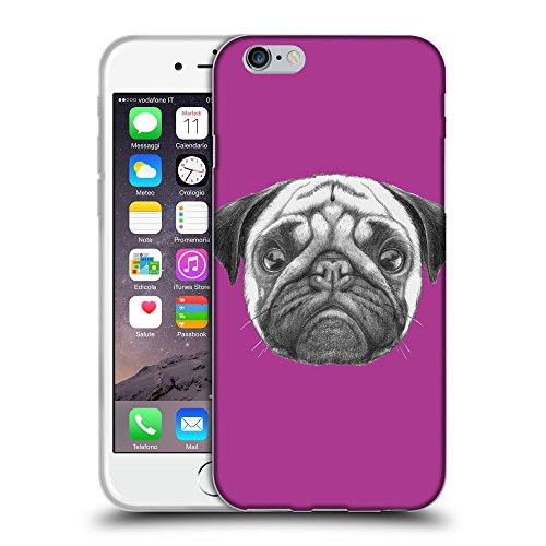 "GoGoMobile Coque de Protection TPU Silicone Case pour // Q05440621 Chien pug byzantin // Apple iPhone 6 PLUS 5.5"""