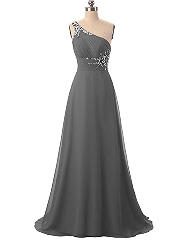 Victoria Prom One Shoulder Ombre Long Evening Prom Dresses Chiffon Wedding Party Gowns at Amazon Womens Clothing store:
