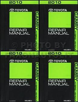 2010 toyota camry hybrid repair shop manual original 4 volume set rh amazon com 2009 Toyota Camry Service Manual Toyota Camry Repair Manual Online