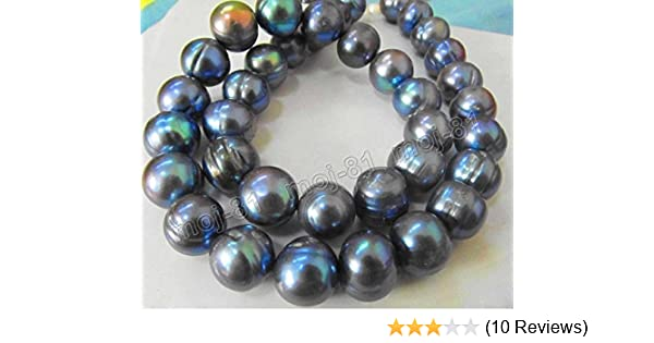 """Charming!10mm White Sea Shell Pearl Necklace 35/""""AAA"""