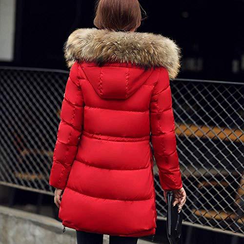 Oudan Abrigo de Invierno Escudo de Las señoras, Moda para Mujer Moda de Abrigo Abrigos Gruesos Abrigo con Capucha de algodón Delgado Abrigos Acolchados ...
