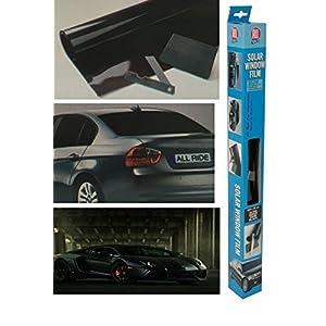 Ultra Noir voiture van Limo Film teinté fenêtre Soleil Réduire l'éblouissement Kit universel pour 3 M x 50 cm